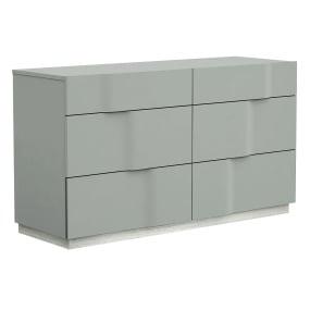 Essence Grey Lacquer 6 Drawer Dresser