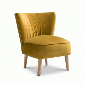 Plush Mustard Accent Emperor Chair