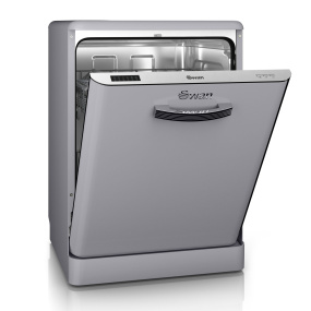 Swan Retro Grey Dishwasher