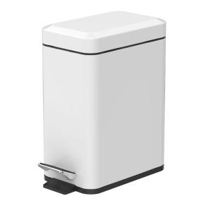 Showerdrape Cube 5 Litre White Pedal Bin