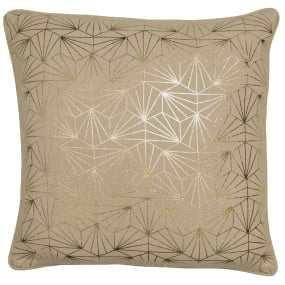 Malini Hex Gold Cushion