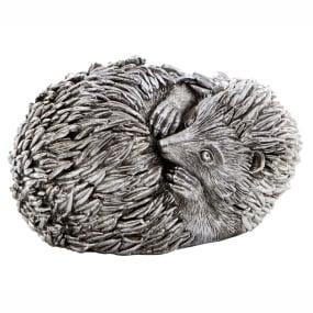 Antique Silver Hedgehog Sculpture