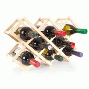 Sloane & Ebury Wooden Provence 10 Bottle Wine Rack