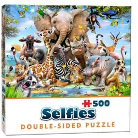 Double-Sided Wild Selfie Jigsaw Puzzle