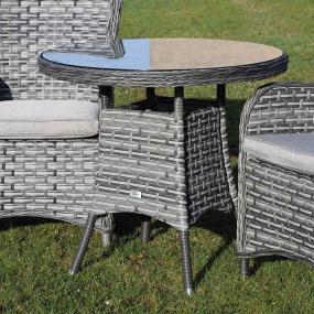 Supremo San Antonio Storm Grey 80cm Bistro Rattan Garden Table - Lifestyle | Housing Units