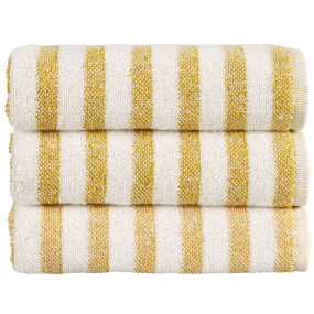 Christy Soho Stripe Ochre Bath Sheet