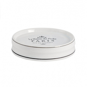 Showerdrape Paris White Soap Dish