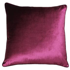 Luxe Cranberry Velvet Cushion