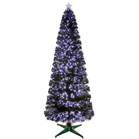 6ft Fairmont Black Pencil Christmas Tree with White LEDs | Housing Units