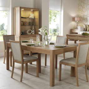 Oslo Light Oak Extending 170cm Dining Table