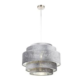 Globo Tarok Silver Velvet Pendant Light