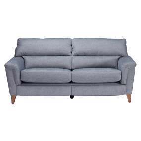 Nixon Blue Fabric Power Motion Lounger 3 Seater Sofa - Front