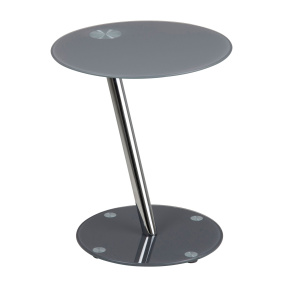 Dexter Grey Round Glass Side Table