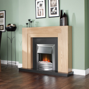 Dimplex Freeport Optiflame Chrome Inset Electric Fire