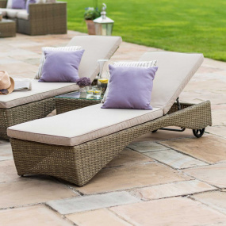 Maze Rattan Nerja Garden Sun Lounger Set