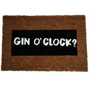 Gin O'Clock Glitter Doormat