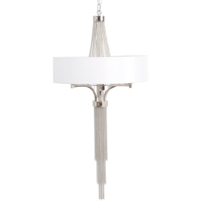 Langan Small Chandelier with White Shade