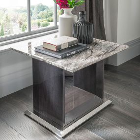 Pescara Grey Marble Side Table