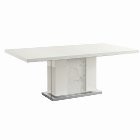 Torino White High Gloss Extending 196cm Dining Table