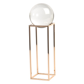 Large Crystal Ball on Gold Frame