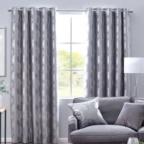 Belfield Enchanted Forest Silver 66x72 Curtains