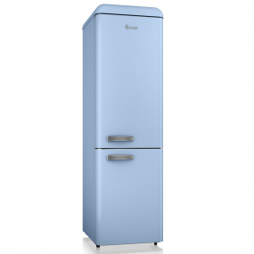Swan Retro Blue Slimline Fridge Freezer