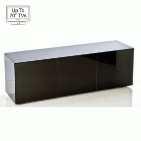 "Invictus Black High Gloss TV Stand for up to 70"" TVs - Self Build"