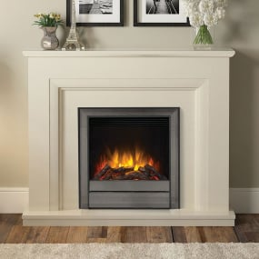 Desede Almond Stone Electric Fireplace Suite