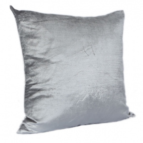 Malini Velveteen Silver Cushion