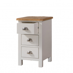 Malvern Grey and Oak 3 Drawer Bedside Chest