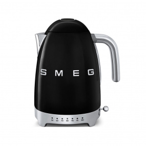Smeg 50's Retro Style Black Temperature Control Kettle