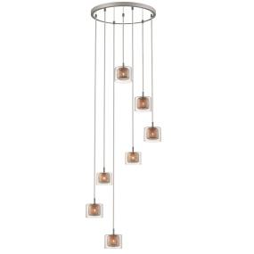 Lecco Spiral 7 Light Pendant Light