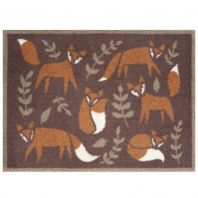 Turtle Mat Country Living Folky Foxes Doormat