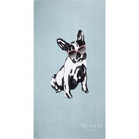 Ted Baker Cotton Dog Duckegg Beach Towel