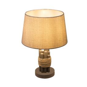 Globo Livia Grey Wood Table Lamp and Shade