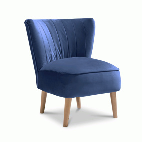 Plush Marine Accent Emperor Chair