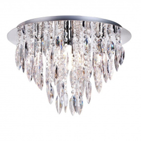 Willatzzo Polished Chrome 5 Light Round Flush Fitting Ceiling Light
