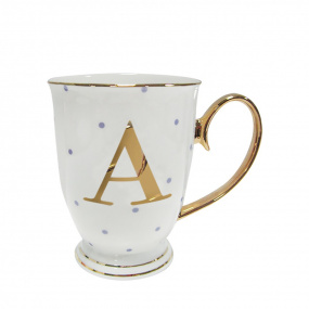 Alphabet Spotty Mug - A