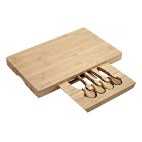 Large Bamboo Cheese Board and Knife Set