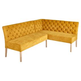 Tosca Mustard Fabric LHF Corner Bench