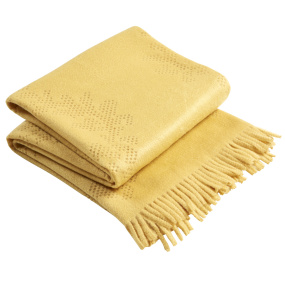 Christy Lace Ochre Throw