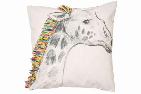 Printed Giraffe Cushion