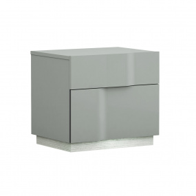 Essence Grey Lacquer Nightstand