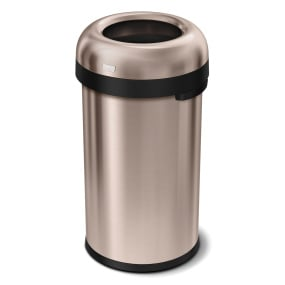 Simplehuman 60 Litre Rose Gold Bullet Open Top Bin