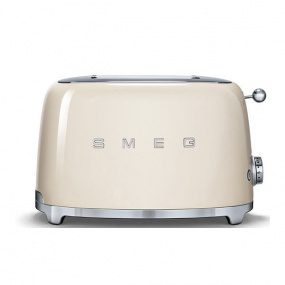 Smeg 50's Retro Style Cream 2 Slice Toaster