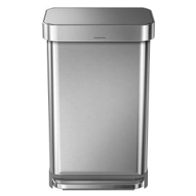 Simplehuman 45 Litre Nano Silver Pedal Bin with Liner Pocket