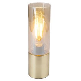 Globo Annika Matt Brass & Smoked Glass Table Lamp