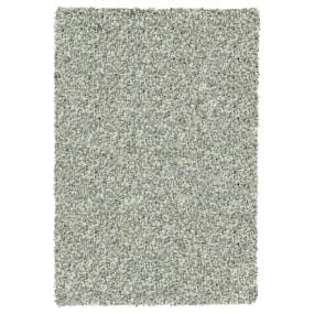 Twilight Silver and White 133cm x 195cm Shaggy Rug