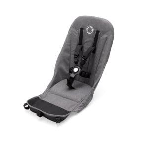 Grey melange seat fabric
