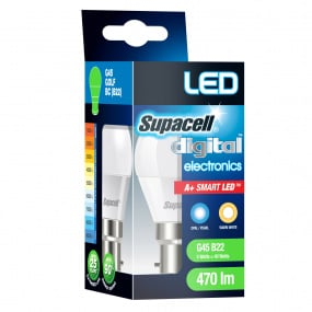 Supacell BC B22 5W Golfball LED Opal Light Bulb